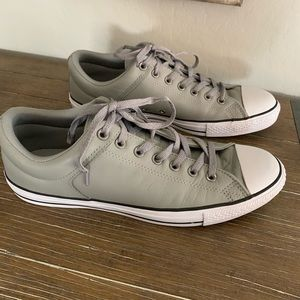 Converse all-star men's sneakers gray leather 12